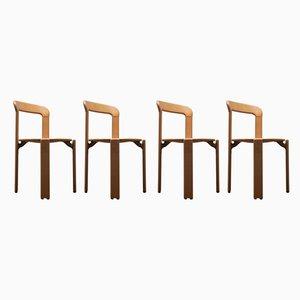 Esszimmerstühle von Bruno Rey für Kusch + Co, 1970er, 4er Set