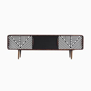 Long Rounded Birch Sideboard, 1960s