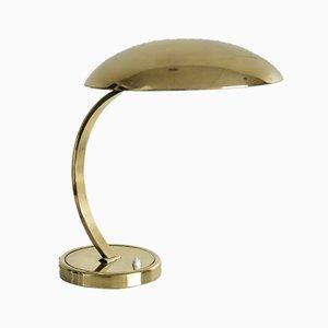 Lámpara de mesa modelo 6751 de latón pulido de Christian Dell para Kaiser Idell / Kaiser Leuchten, años 50