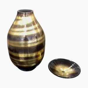 Art Deco Ceramic Vases by Jean Besnard, 1930s, Set of 2