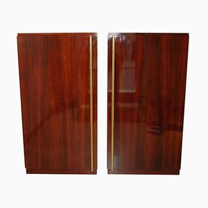Walnut Cabinets by André Sornay, 1930s, Set of 2