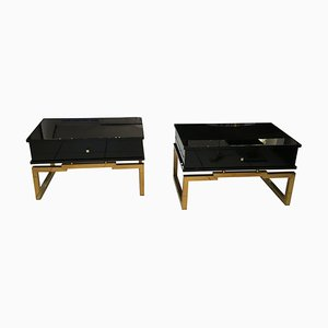 Lacquered Wood Coffee Tables, 1970s, Set of 2
