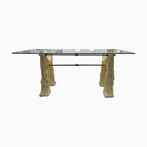 Stone and Glass Dining Table, 1970s