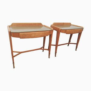 Wooden Nightstands, 1950s, Set of 2