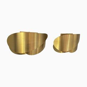 Brass Sconces, 1970s, Set of 2