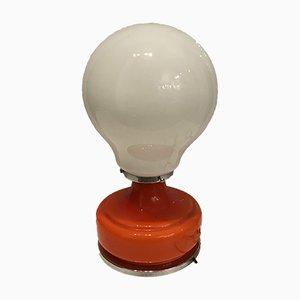 Mid-Century Tischlampe aus Opalglas von Gino Vistosi, 1970er