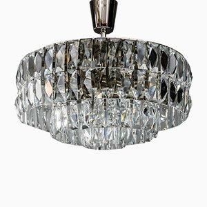 Lámpara de araña de cristal de Bakalowits & Söhne, años 60