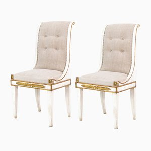 Antique Italian Side Chairs, Set of 2
