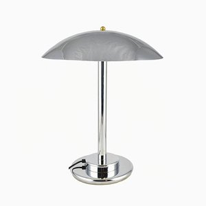 Lampe de Bureau Mushroom Modèle 1215 en Chrome de NF Luminaires Electricité, années 70