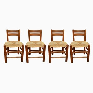 French Side Chairs, 1970s, Set of 4