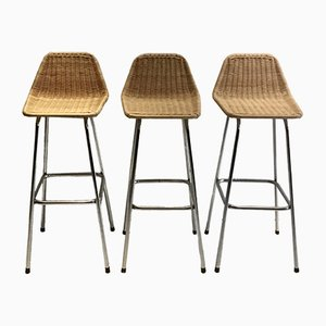 Stools by Dirk van Sliedregt for Rohé Noordwolde, 1960s, Set of 3