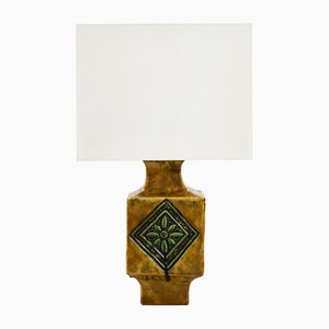Französische Mid-Century Tischlampe aus Keramik