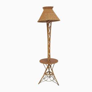 Vintage Rattan Floor Lamp, 1970s