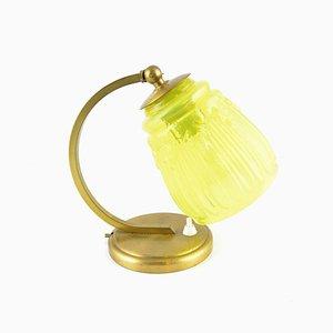 Polnische Vintage Art Déco Tischlampe aus Glas, 1930er