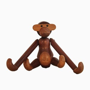 Mid-Century Teak Monkey Sculpture by Kay Bojesen