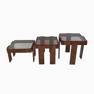 Mid-Century Italian Nesting Tables by Gianfranco Frattini for Cassina, 1960s