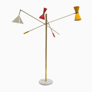 Lámpara de pie italiana, años 60