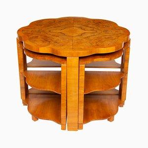 Tables Gigognes en Noyer par Harry et Lou Epstein, années 30