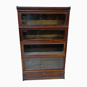 Antique Oak Sectional Bookcase from Globe Wernicke, 1880s