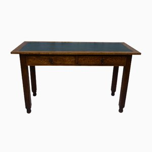 Oak Oak and Leather Hall Table, 1920s
