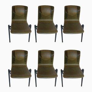 Modell S22 Esszimmerstühle von Galvanitas, 1970er, 6er Set