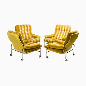 Fauteuils Mid-Century par Bruno Mathsson, Set de 4
