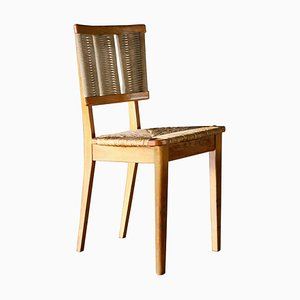 Vintage Oak Side Chair by Mart Stam