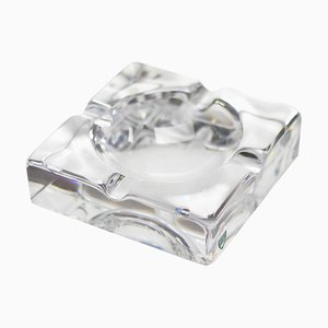 Mid-Century Aschenbecher aus Glas von Orrefors