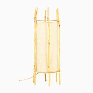 Tischlampe aus Bambus, 1950er