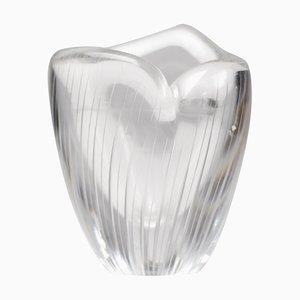 Mid-Century Vase aus geschliffenem Glas von Tapio Wirkkala