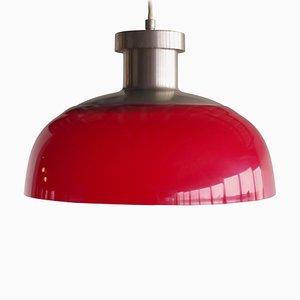 Lampe à Suspension 4017 Rouge par Achille Castiglioni pour Kartell, années 50