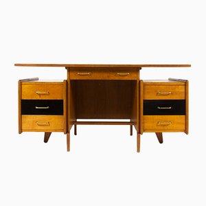 Schreibtisch aus Eiche, 1950er