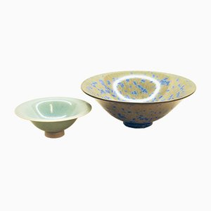 Bowls by Lasse Östman, 1980s, Set of 2