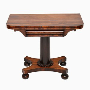 Table pour Jeux de Cartes William IV Ancienne en Palissandre