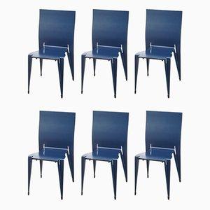 Esszimmerstühle von Mart van Schijndel für Lensvelt, 1980er, 6er Set