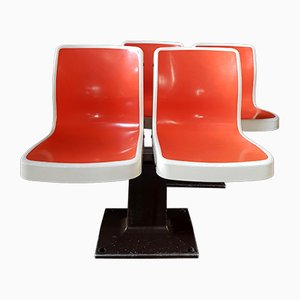 Vintage Fiberglass Bowling Benches from Brunswick Bowling & Billiards, 1950s, Set of 4