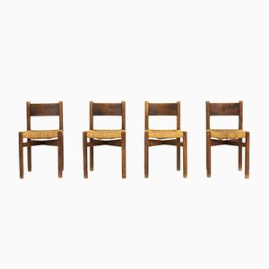 Meribel Dining Chairs by Charlotte Perriand for Steph Simon, 1950s, Set of 4