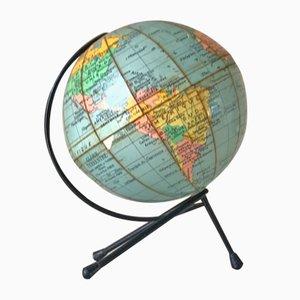 Mid-Century Globus mit dreibeinigem Stativ von Girard und Thomas Barrere
