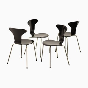 3105 Dining Chairs by Arne Jacobsen for Fritz Hansen, 1960s, Set of 4