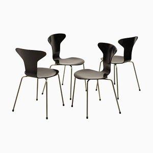 3105 Esszimmerstühle von Arne Jacobsen für Fritz Hansen, 1960er, 4er Set
