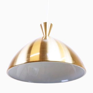 Gold Metal Ceiling Lamp, 1960s