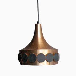 Copper Plated Pendant Lamp, 1960s