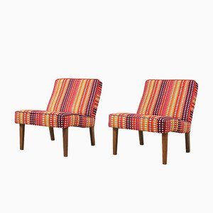 Vintage English Lounge Chairs, 1960s, Set of 2