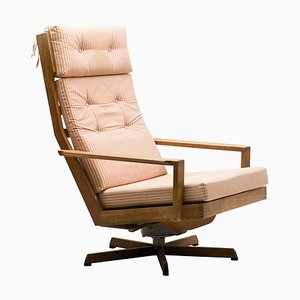 Mid-Century Oak Lounge Chair from Madsen & Schubel