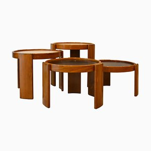 Tavolini impilabili di Gianfranco Frattini per Cassina, 1966, set di 4