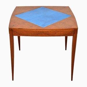 Table de Jeu Amboyna Art Déco, années 20