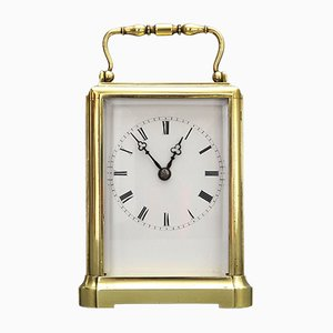 Antique French Brass Carriage Clock from Japy Freres