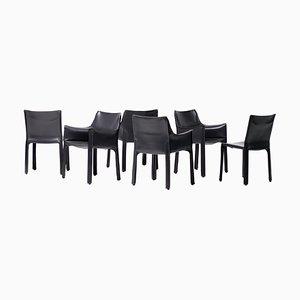 Esszimmerstühle von Mario Bellini für Cassina, 1980er, 6er Set