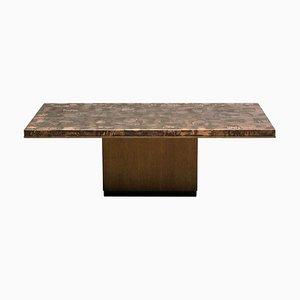Table Basse en Laiton par Illum Wikkelsø, années 60
