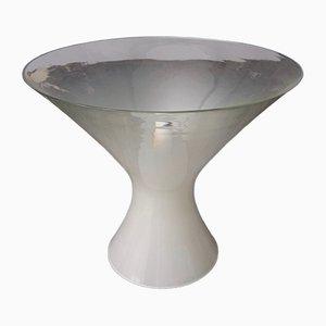 Lámpara de mesa italiana vintage de vidrio